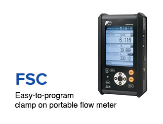 Easy-to-program clamp on portable flow meter.