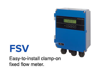 Easy-to-install clamp-on fixed flow meter.
