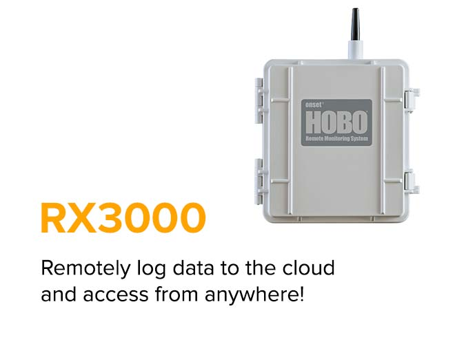 RX3000 - Remotely log data to the cloud and access from anywhere!