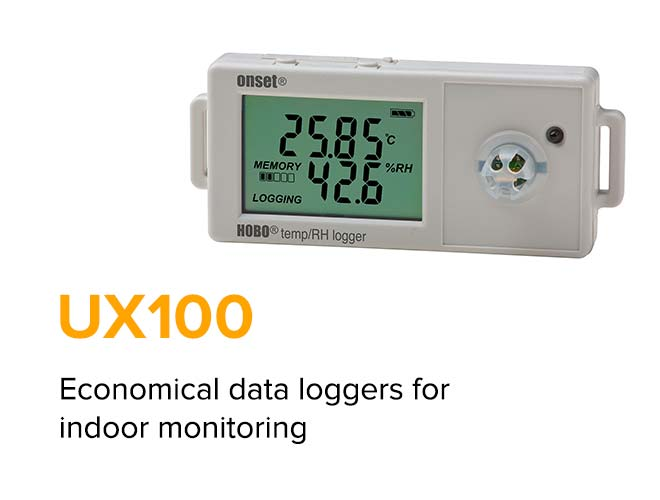 ​UX100 - Economical data loggers​ for​ indoor​ ​monitoring​
