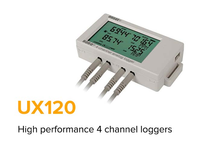 UX120 - High Performance 4 channel loggers