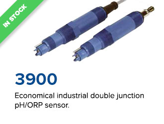 Economical industrial double junction pH/ORP sensor.