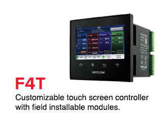 Customizable touch screen controller with field installable modules.