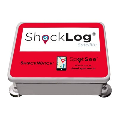 SpotSee ShockLog Satellite Impact Tracking System